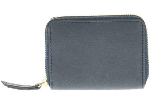 Concertina Card Purse Navy Zip Around Leather Credit Card Holder Boxed 1207