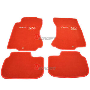Fit 1990 1996 Nissan 300zx Z32 Red Nylon Car Floor Mats