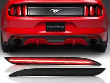 Usa Ship Smoke Rear Bumper Led Reflector Brake Light For 2015 2017 Ford Mustang Fits Mustang