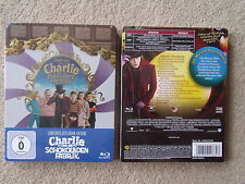 CHARLIE AND THE CHOCOLATE FACTORY : DEPP [ STEELBOOK ] [ RARE GERMAN IMPORT ]