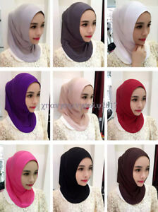 Women-Muslim-Hijab-Scarf-Islamic-Hats-Wrap-Turban-Head-Underscarf-Arab-Hats-Cap