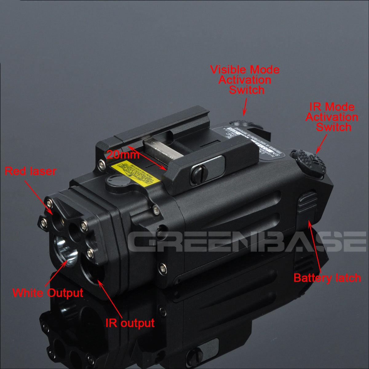 DBAL-PL Light LED Flashlight Strobe  Red laser  IR Light  IR Laser Light 400 LM