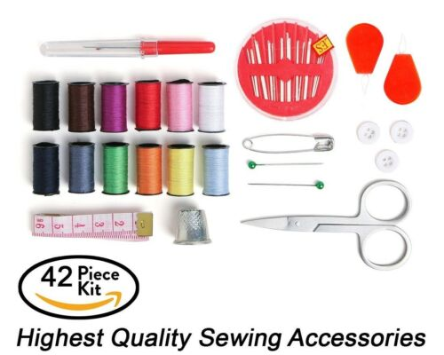 Best Mini Sewing Kit for Home Travel /& Emergency Premium Sewing