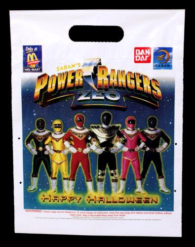 Vintage Mighty Morphin Power Rangers Zeo McDonald/'s Halloween Trick or Treat Bag