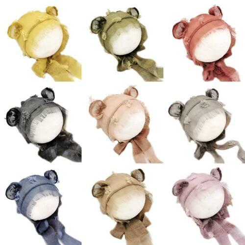 Baby Photo Photography Hat Newborn Tie-dyed Garden Hats Cute Infants Ear Cap