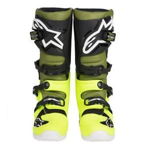 Details zu Alpinestars Motocross Stiefel Tech 7 GelbMilitarySchwarz