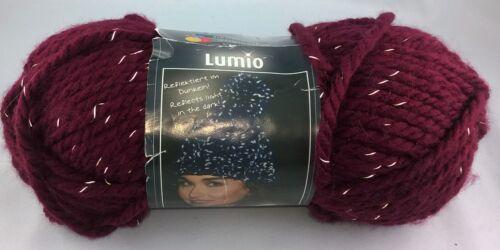 Garn Lumio Schachenmayr reflektierend stricken Mütze 100g=5€ Wolle,Winter