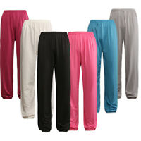 Kung Fu Tai Chi Wushu Martial Arts Shaolin Yogo Bloomer Ice Silk Trousers Pants