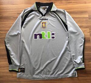 Aston Villa Jersey 2001 Silver Long Sleeve Large | eBay