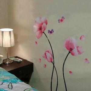 Large-lily-flower-Wall-Stickers-Removable-DIY-Home-living-room-Mural-Art-Decal