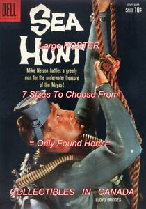 SEA-HUNT-1960-6-TV-Show-SCUBA-DIVE-Rope-POSTER-Not-Comic-Book-8-SIZES-18-034-3-FT