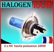2 AMPOULES H4 ULTRA WHITE  HAUTE PUISSANCE 100 W