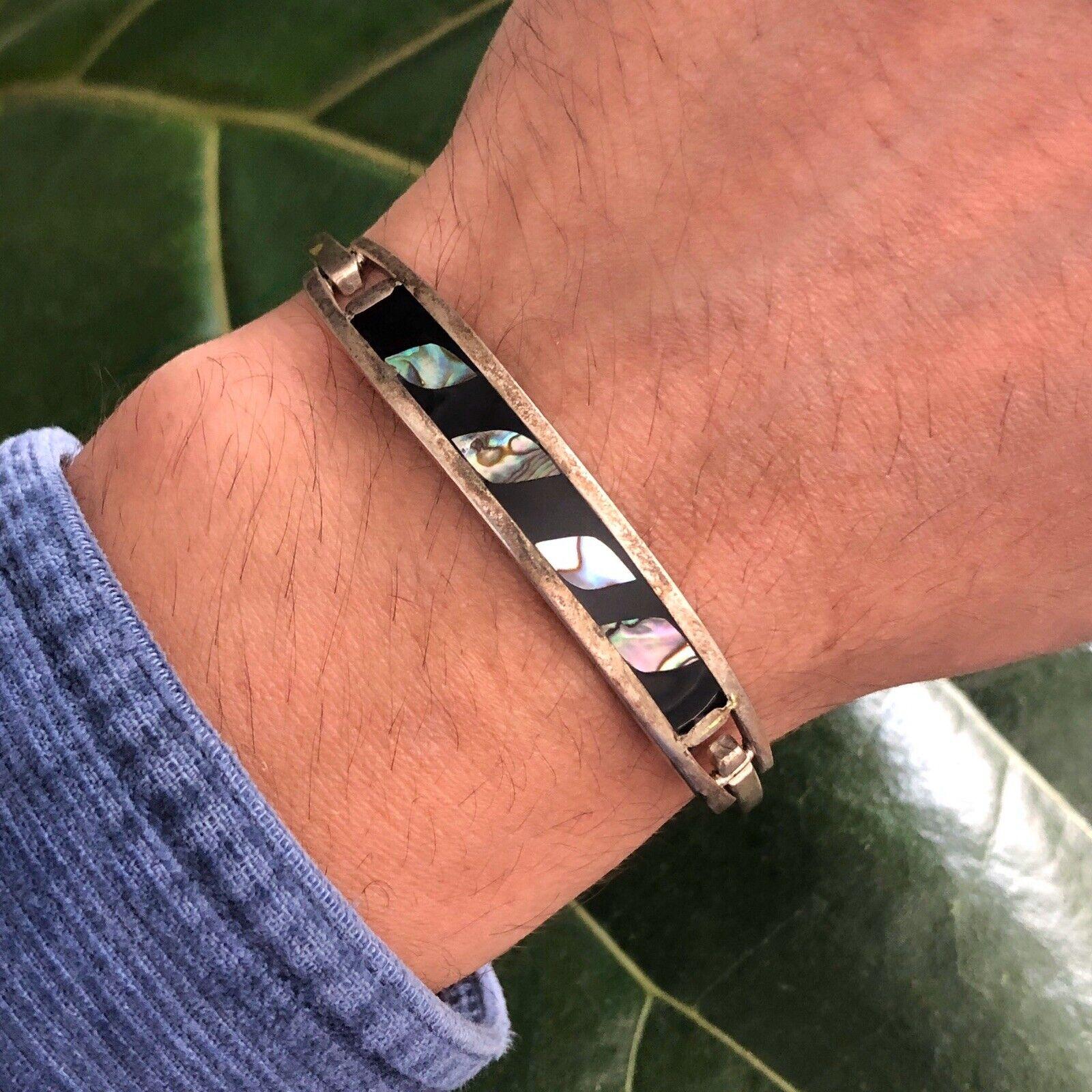 silver toggle clasp bracelet Silver statement bracelet sea shell bracelet
