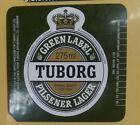 VINTAGE BRITISH BEER LABEL - TUBORG GREEN LABEL PILSENER LAGER 275ML