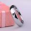 Anello-Fede-Fedina-Uomo-Donna-Solitario-Fidanzamento-Nuziale-Acciaio-Incisione miniatura 3