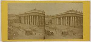 La Bourse Parigi Francia Foto Stereo PL28Th1n12 Vintage Albumina c1875
