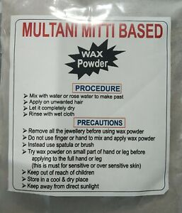 Pure Herbal Wax Powder For Hair Removal Multani Mitti Based 100 Grms Pack Ebay