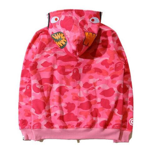 Bathing Ape BAPE Men/'s Shark Jaw Camo Full Zipper Hoodie Sweats Coat Jacket