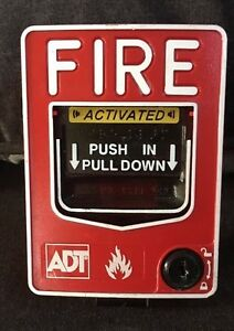Used ADT Fire Alarm Pull Station BG-12LX Fire Alarm Free Shipping