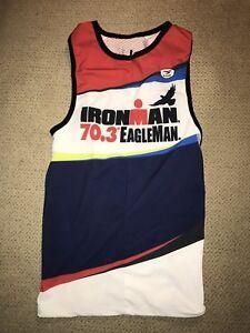 Women s Tri Ironman Eagleman Triathlon Singlet Tank Top Jersey Small ... 1e32c93e1