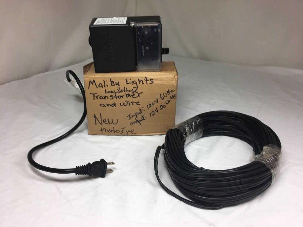 Nuevo Malibu Luces, 3100-2020-01, luz del día, con Transformador Sensor De Temporizador oscuro 50ft