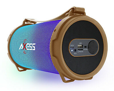 Style; In gold Latest Collection Of Axess Bluetooth Disko Led Lichter 1.0ch Wiederaufladbarer Lautsprecher Fashionable