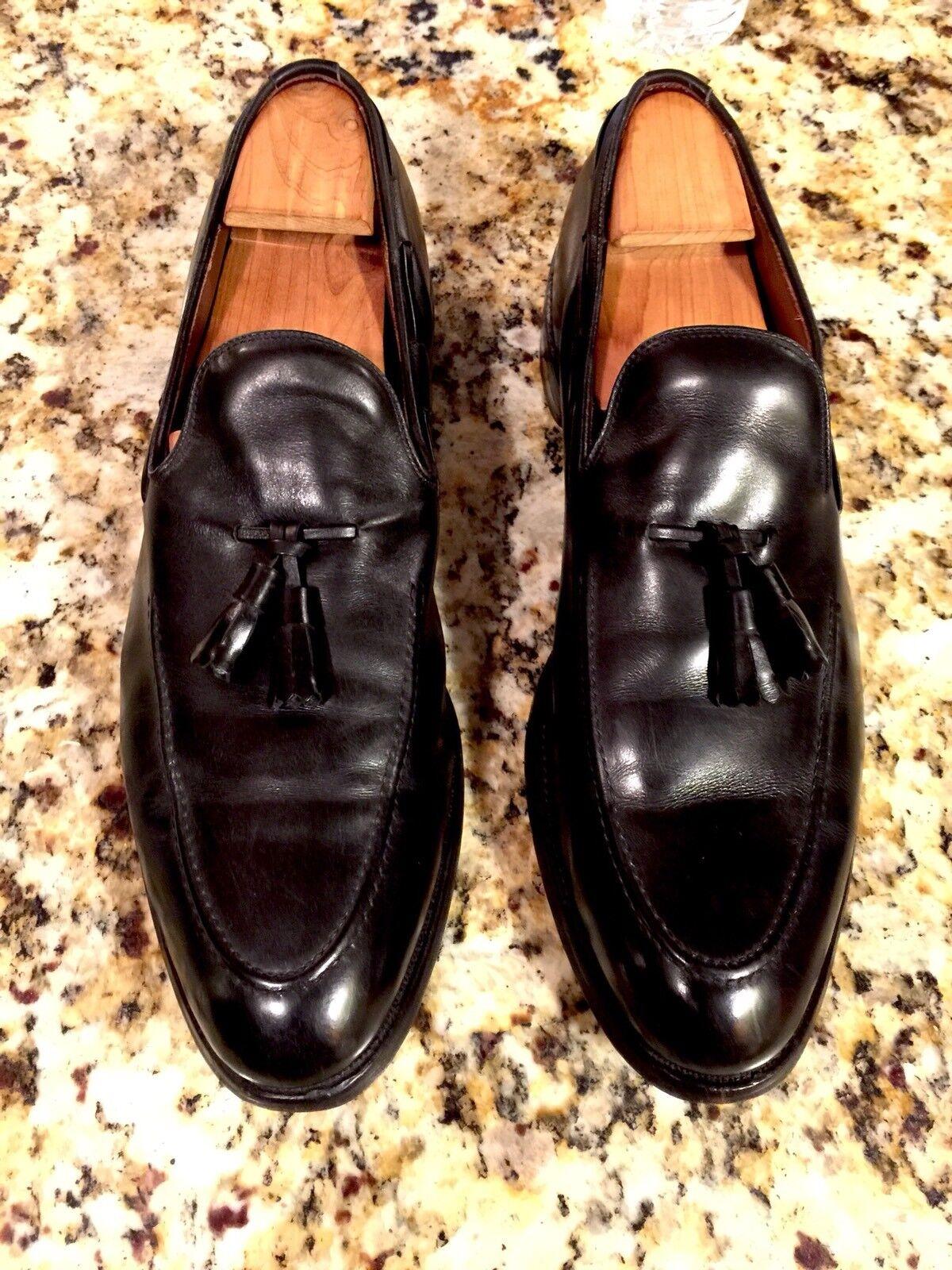 100% nuovo di zecca con qualità originale ALLEN EDMONDS SARATOGA nero Tassel Leather Loafers Uomo Dimensione 12.5 12.5 12.5 AA  grande sconto