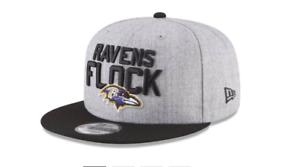 new product cbd55 aaf0b Image is loading New-Era-Baltimore-Ravens-Heather-Gray-Black-2018-