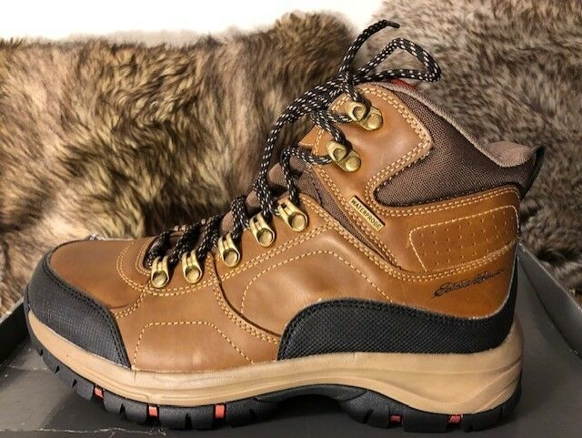 New  Eddie Bauer Men's Brandon Hiker Mid Boots 8M Brown