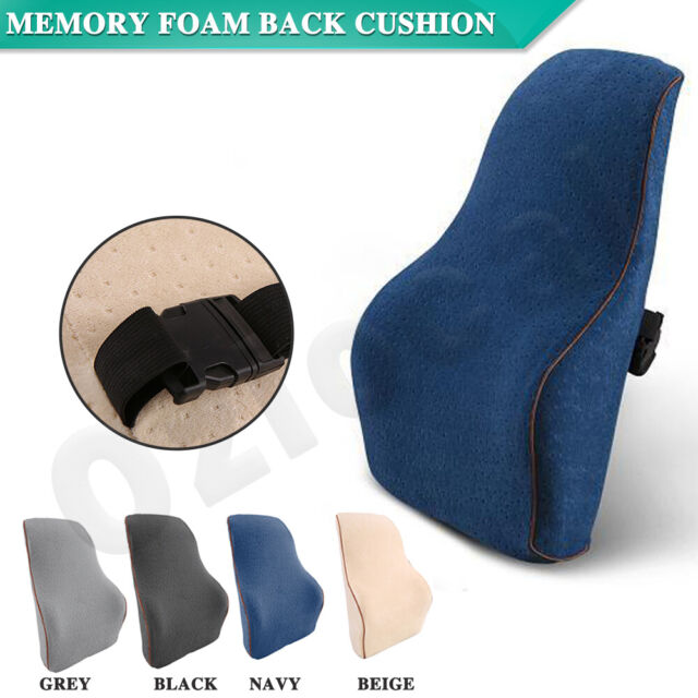 Memory Foam Lumbar Back Support Cushion Seat Waist Back Pillow Home Car Office