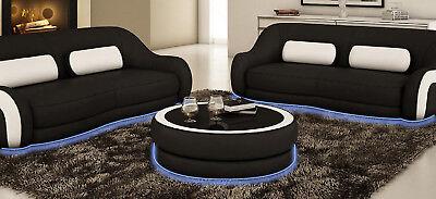 Tavolino Tondo Tavolino Tavolo Tavoli Divano Sofa Tavola Rotonda Design In Pelle-