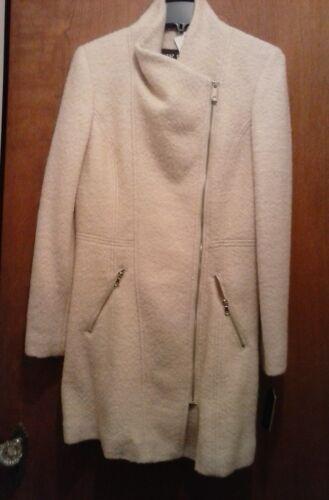 glissière Guess à pour asymétrique en laine Manteau femmes en S laine XqZ4Z1w