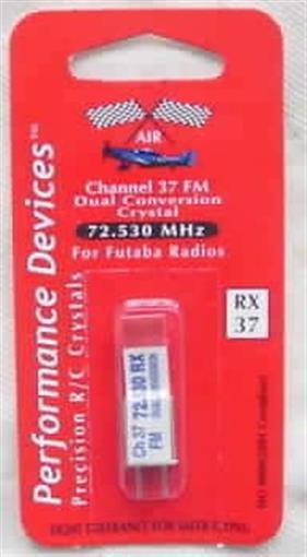 Futaba 72Mhz FM Dual Conversion Receiver Crystal-CH 37
