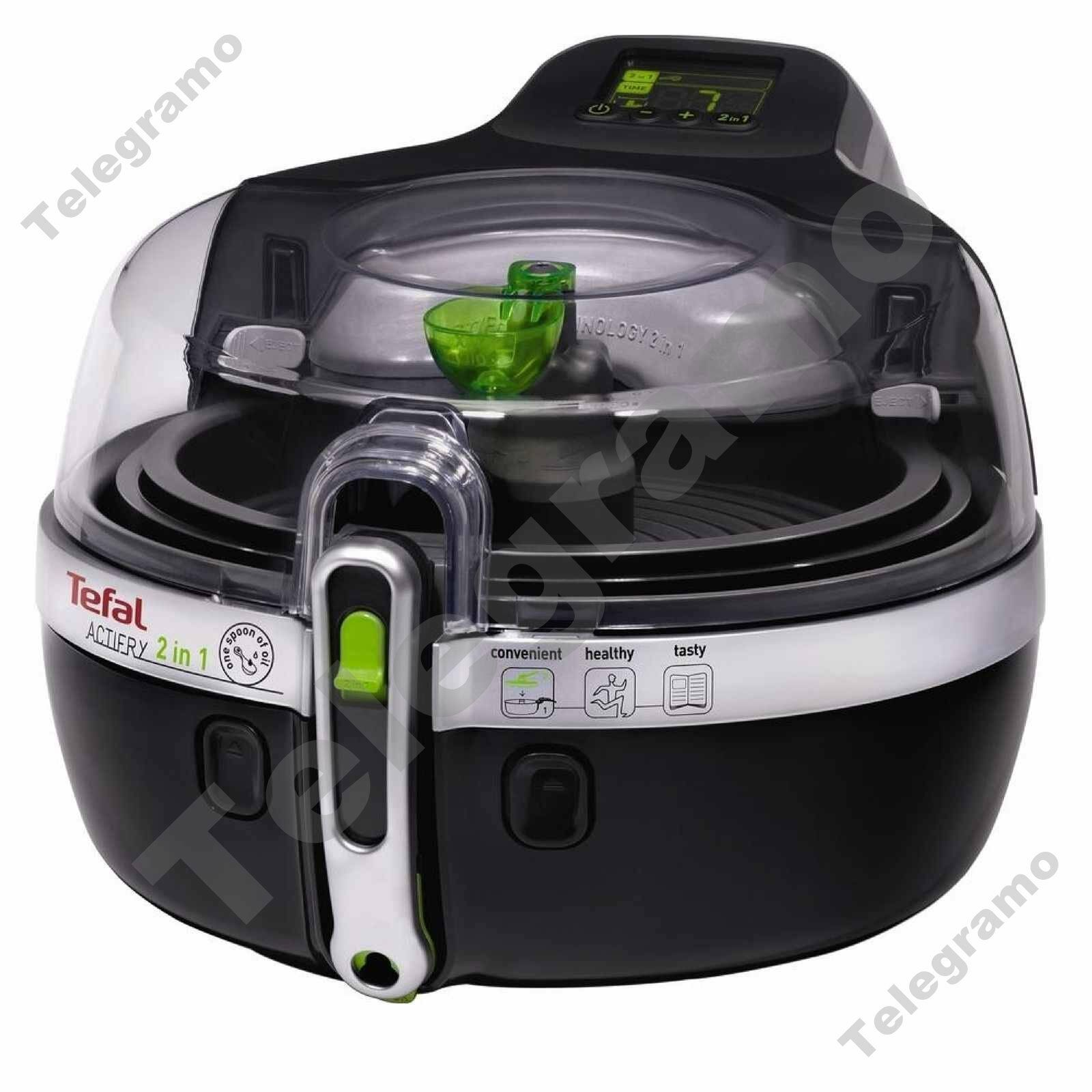 New Tefal YV960140 ActiFry 2 in 1 Low Fat 1.5Kg Fryer with redating Paddle