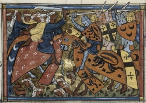 Battle of Antioch 1337 Crusades Crusaders 6x4 Inch Print