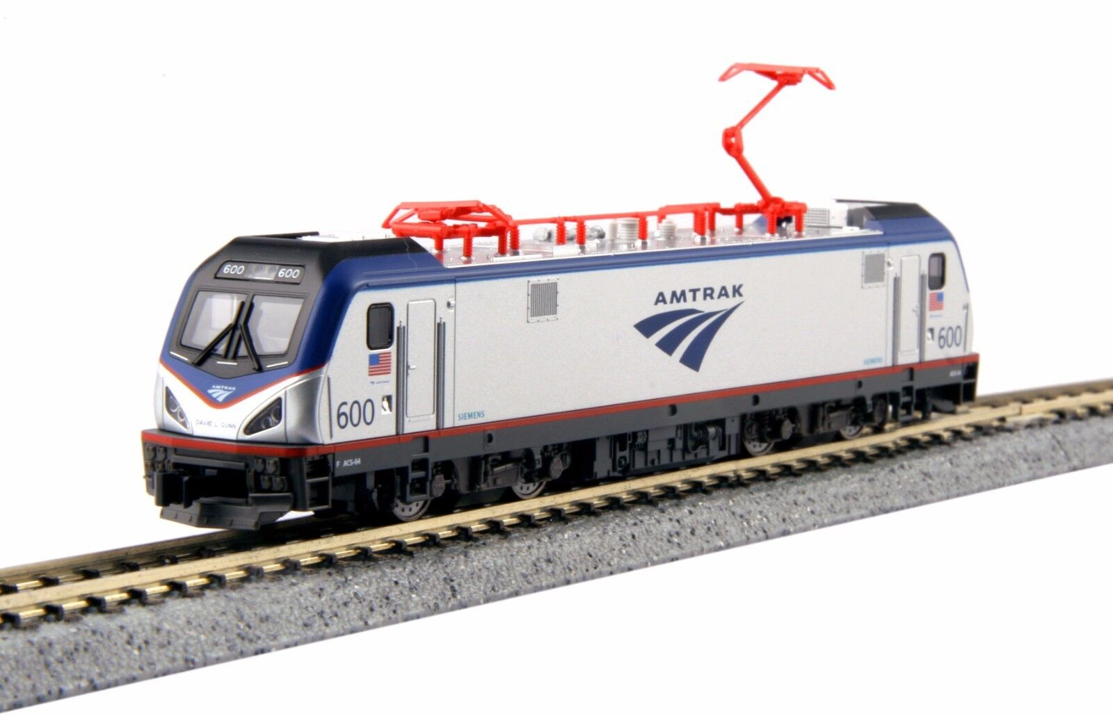 N Kato 3001 Siemens ACS-64 Amtrak Loco   600 David Gunn Nuevo en Caja Envío Gratuito