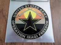 U.s Military Army Operation Iraqi Freedom Window Decal Bumper Sticker 5x5