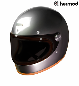 low cost 2018 shoes save up to 80% Hedon Heroine Racer Retro Full Face Motorcycle Helmet - Ash   eBay
