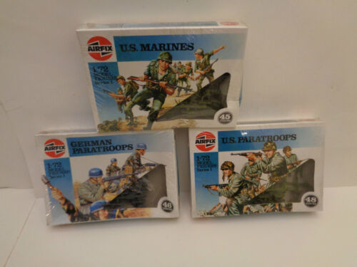 Airfix verschiedene Fallschirmjäger und Marinesoldaten 1//72 1986