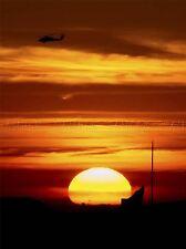 MILITARY AIR CRAFT HELICOPTER SILHOUETTE SUN SET CHOPPER DUSK POSTER ART BB926A