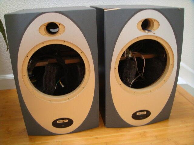 Tannoy Precision 8P speaker cabinets.