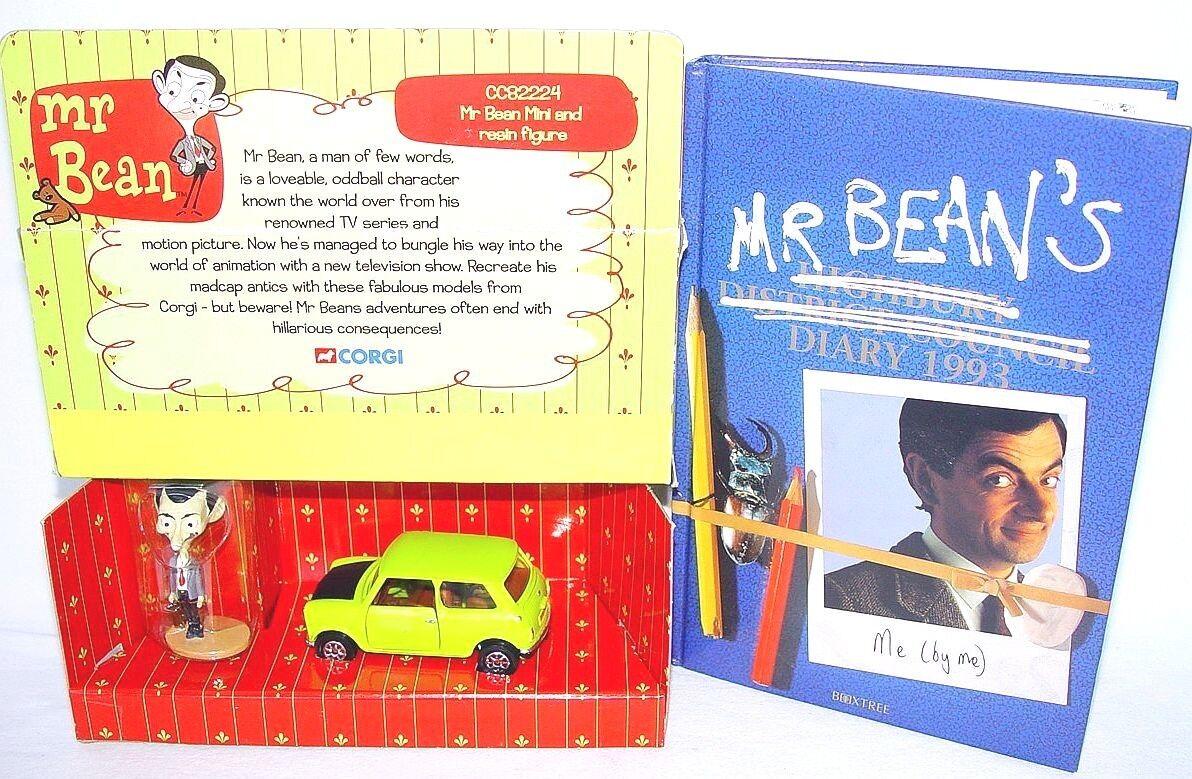 Corgi Toys 1:36 Mr. Bean Mini Cooper Comic TV COCHE  diario libro 2018 MIB`05 Rara