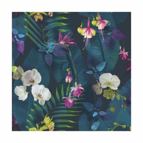 Pindorama Flowers Floral Tropics Navy Wallpaper Pink Quality Designer Arthouse