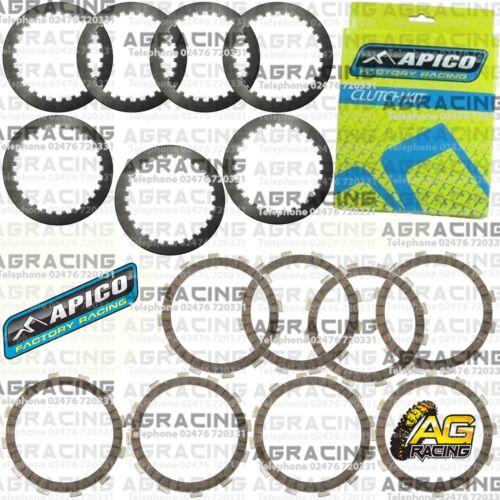 Apico Clutch Kit Steel Friction Plates For Husqvarna WR 250 2010 MotoX Enduro