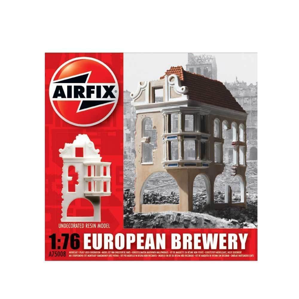 A75008 Airfix Plastic Unpainted Model Kit 1 76 European German Ruin Brewery New