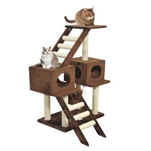 Cat-Tree-Scratching-Post-Climbing-Activity-Playground-Center-w-Ladder-Hammock