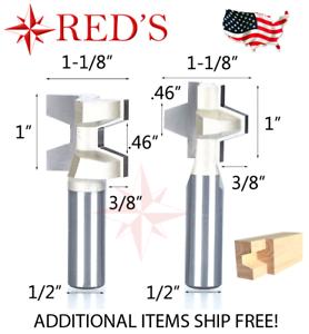 """Tideway Carbide Pro LC17021808 Bevel Glue Joint Set 23//32-1/"""" stock router bit"""