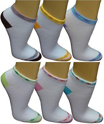 Erfinderisch 12 24 Damen Sneaker Socken Freizeitsocken Füßlinge Sportsocken Gestreift Bunt 12