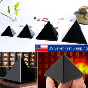 4-7cm Natural Reiki Black Obsidian Pyramid Protective Crystal Healing Home Decor