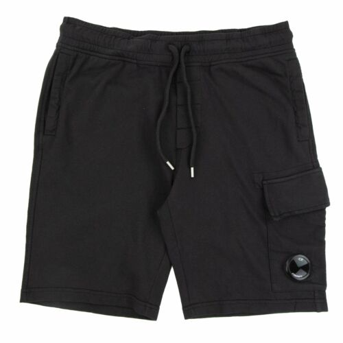 CP Company Lens Sweat Shorts Black 999